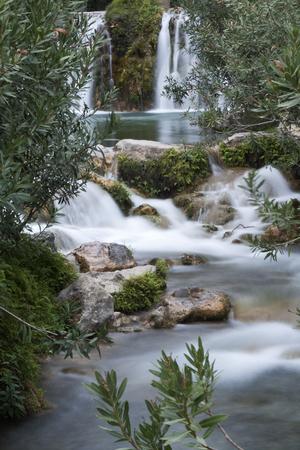 Sources of the river Algar in Callosa de Ensarria, province of Alicante, Spain. Stock Photo