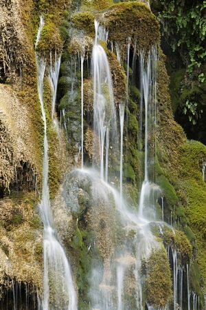 Waterfall of Batan of Bogarra, in the province of Albacete, Spain. Stock Photo
