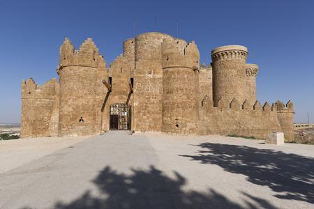 Castle of Belmonte on the hill of San Cristóbal, Belmonte province of Cuenca in Castilla la Mancha, Spain.