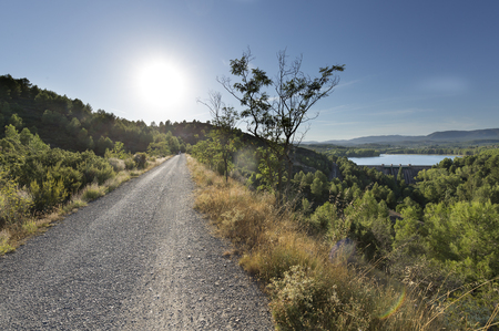 Landscape in Navajas in the province of Castalla, Spain.