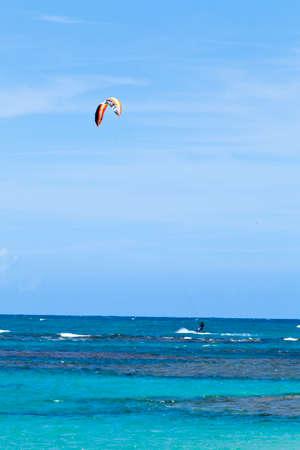 Windsurfing practice at Las Terrenas beach