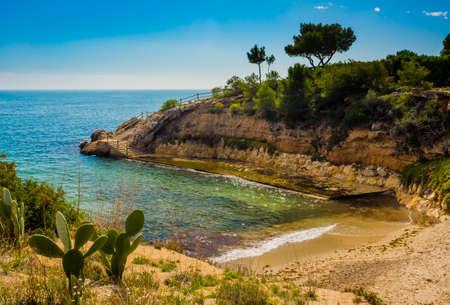 Small beach (cala) in lAmetlla de Mar