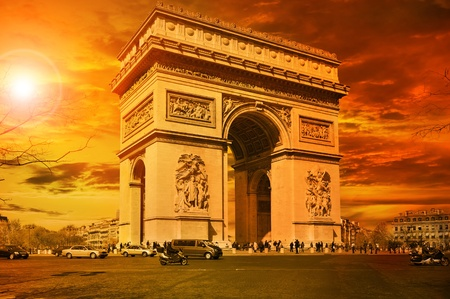 Arc de Triomphe Paris Stock Photo - 13194200