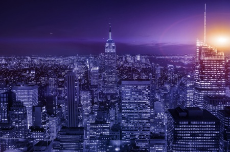 New york night photo