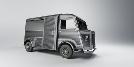 grey old minitruck photo