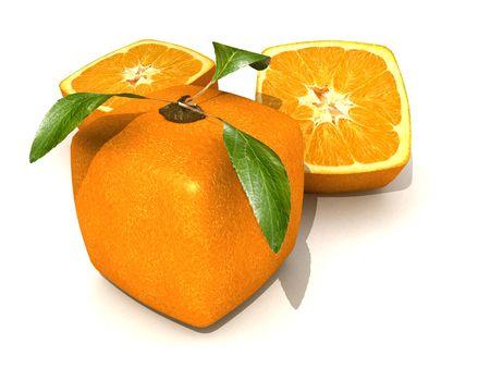 GMO transgenic cubic orange Stock Photo - 777300