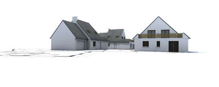 to foresee: houses on top of architects plans