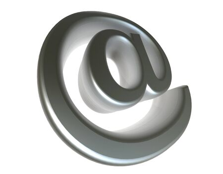 3d Chrome e-mail symbol @ Stock Photo - 1558372