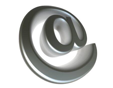 3d Chrome e-mail symbol @ Stock Photo - 1558372