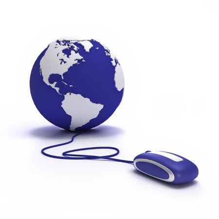 Earth globe with a computer mouse Stock Photo - 1584856