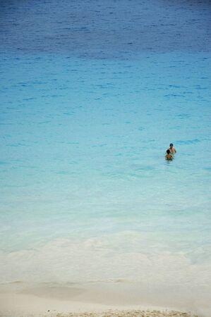 honeymooners: Honeymooners in the Caribbean sea