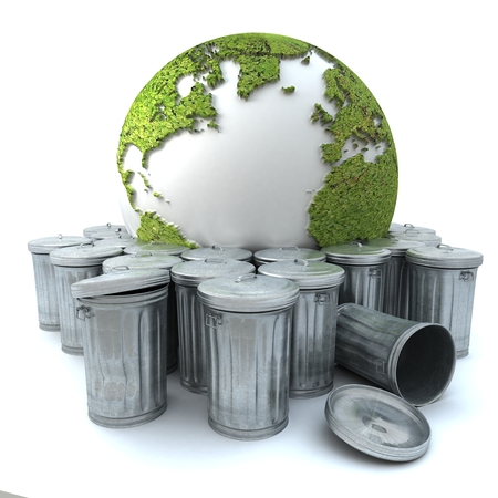 end times: Sick earth showing Europe in the dustbin