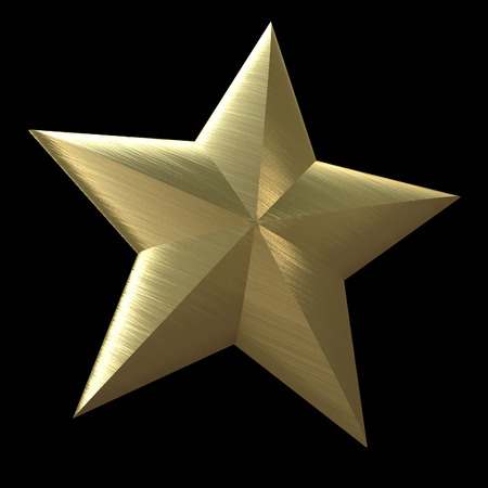 high society: Golden star on a black background
