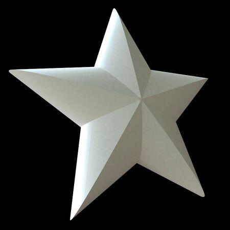high society: White star on a black background