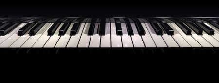3D rendering of a piano keyboard taken horizontaly Stock Photo - 1650012