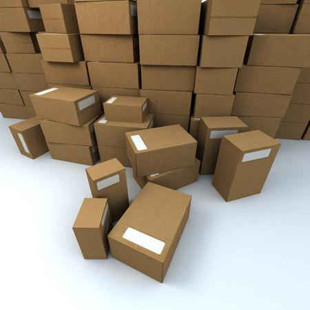 cajas de carton: Enorme mont�n de cajas de cart�n