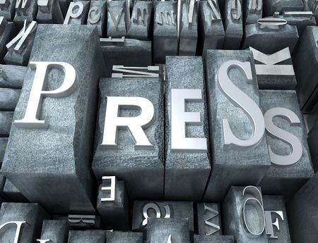 Press word written on tipescript letters Stock Photo - 1779063