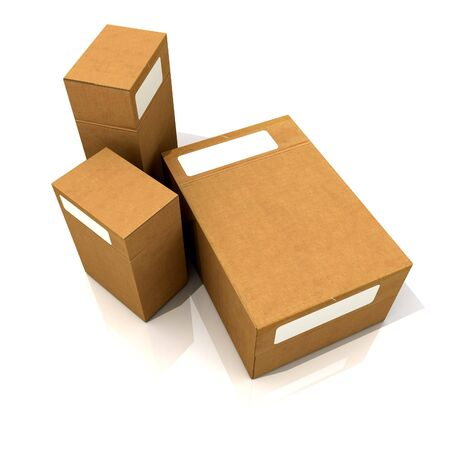 contain: Cardboard boxes in different sizes