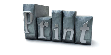 Print word written with print letter cases Stock Photo - 1799372