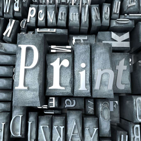 western script: Print word written with print letter cases
