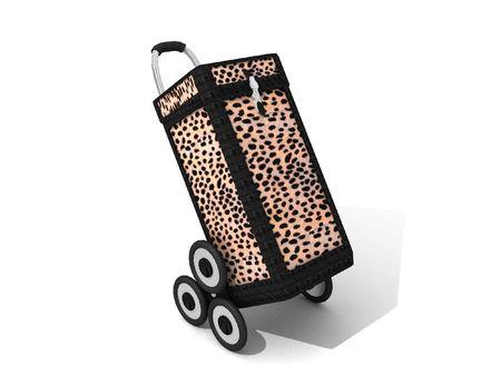 caddy: Trendy shopping caddy in leopard skin