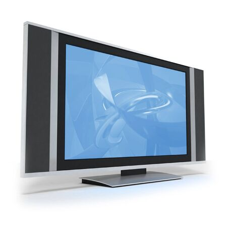 by the lcd screen: LCD screen TVs with abstract blue display