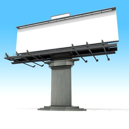 blanck: Blanck advertisement billboard on a neutral background