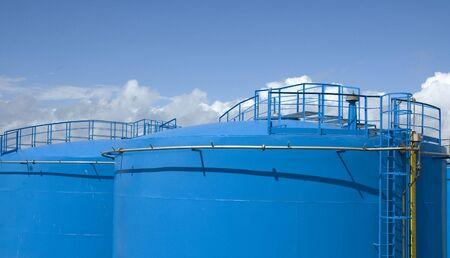 Blue gas storage tanks