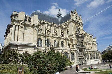 View of Saint Eustache Church in Paris photo