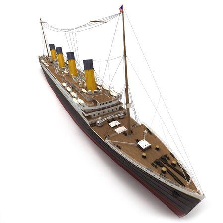 titanic: Vue a�rienne d'un rendu 3D du Titanic