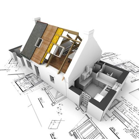 Architecture model house showing building structure Stock Photo - 2472073