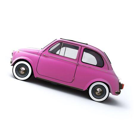 eccentric: Pink retro Italian car