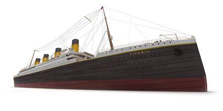 titanic: Vue lat�rale du rendu 3D du Titanic