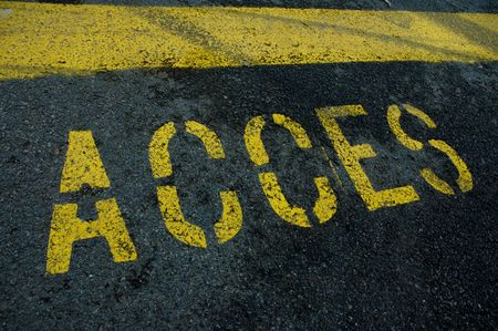 Access sign in French, Acces, written on the road Stock Photo - 2731518