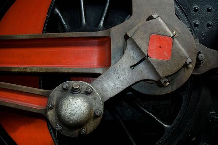 Close-up detail of the wheel of  a steam locomotive. Stock Photo - 2781489