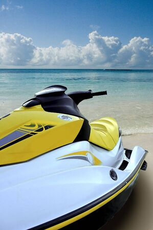 Jet ski on the beach looking at the sea Stock Photo - 2791576