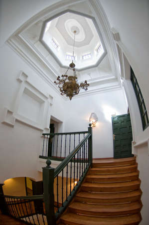 stately home: Top of the stair in a stately home