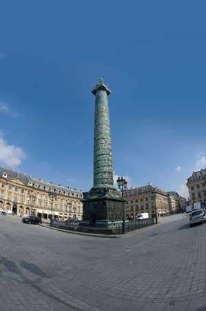 austerlitz: A view of the Place Vendome in Paris with the Austerlitz column