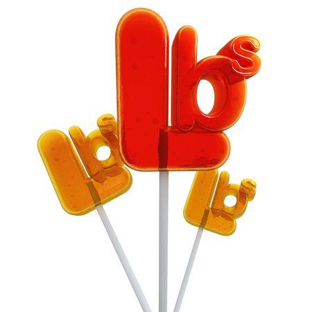 Trio of Lollipops shaped like the pound symbol photo