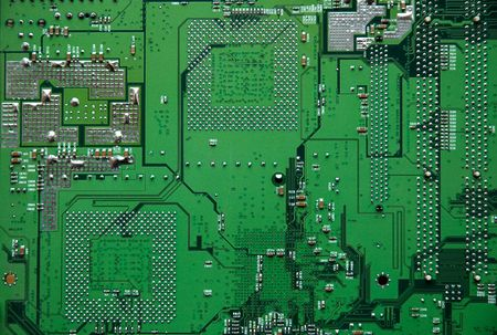 superconductor: Close up shot of an electronic circuit board