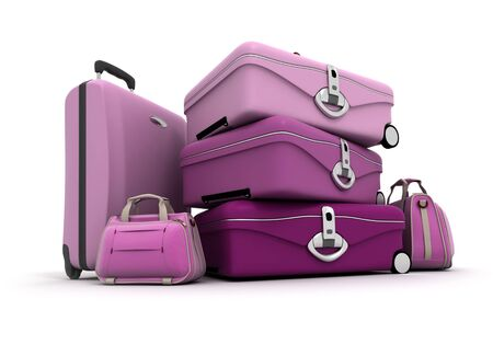 pinks: Feminine looking baggage in pinks and purples