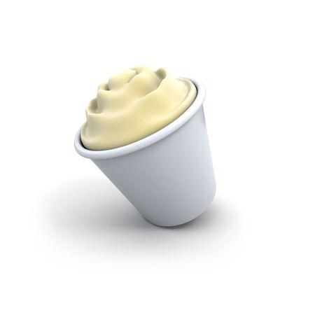 tripping: Vanilla cream desert at the verge of falling down