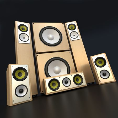 wood panelling: Audio equipment music with wood panelling