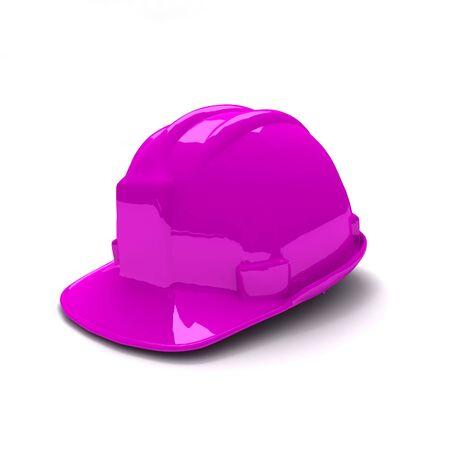 safety helmet: 3D de nueva shinny p�rpura casco de seguridad  Foto de archivo