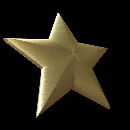 high society: 3D rendering of a golden star on a black background