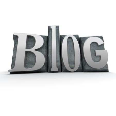 typescript: The word Blog written in typescript letters