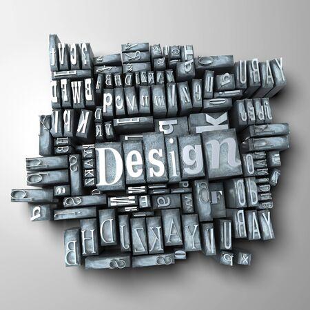 The word design written in typescript letters Stock Photo - 4406240