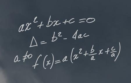 formulae: Mathematic formulae written on a blackboard