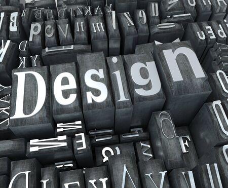 The word design written in typescript letters Stock Photo - 4432305
