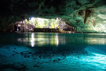 subterranean: Underground like, �cenote� , typical of Yucatan, Mexico.